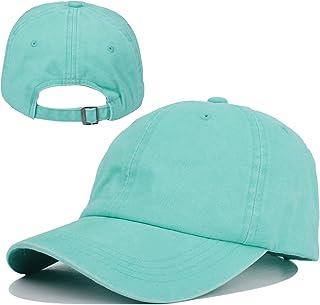 Kekebag Men & Women's Washed Cotton Baseball Caps Adjustable Plain Dad Hat