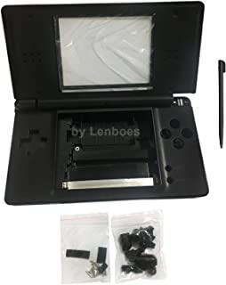 lenboes Replacement Full Housing Shell Case Kit Repair Parts for Nintendo DS Lite NDSL - Black