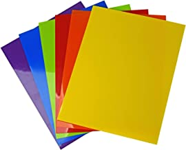 Vaessen Creative Shrink Plastic, Multicolour, 12 Sheets, A5 Size, 14,8 x 21 cm, Fun Arts and Crafts Projects for All Ages