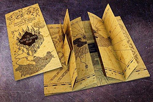 Mapa Réplica de Harry Potter - The Marauders Map/ Mapa del Merodeador (21cm x 39,4cm)