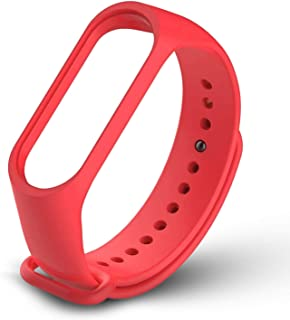 Mi cosa Red strap ( only for mi band 3i, 3 and 4) ( NOT for mi band 2/HRX) TPU strap for Xiaomi Mi Band 3/Mi Band 4/ band 3i Wristband Strap Accessories for Xiaomi Mi Band 3/Mi Band 4/Mi band 3i Bracelet