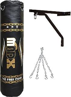 MADX - Saco de boxeo para artes marciales con relleno, incluye cadena y soporte