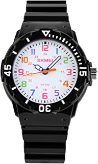 Jewtme Cute Kids Children Watch Colorful dial Outdoor Sport Quartz Watch for Boys Girls Students