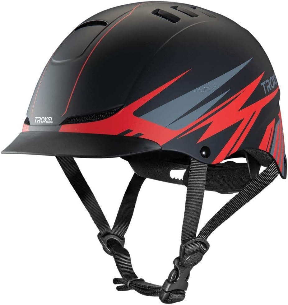 Troxel TX Award-winning store Red Flash Horse Riding Western Low Helmet Adju In a popularity Profile