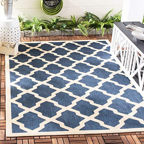 Safavieh Samanna In-und Outdoorteppich Marineblau / Beige 200 X 300 cm