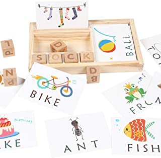 3-in-1 Spelling Learning Game (M.W), Literacy Card Game Kids