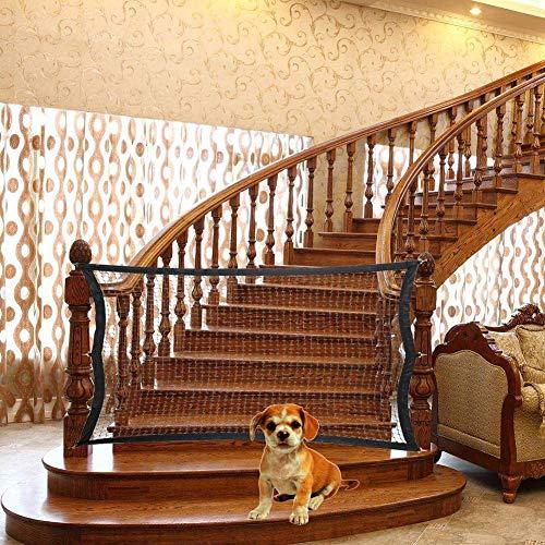 KAISIMYS trappenhuis voor honden, huisdier hek vouwkast kind veiligheid poorten Guard scheiding, eenvoudig te installeren, Pet Barrier mesh