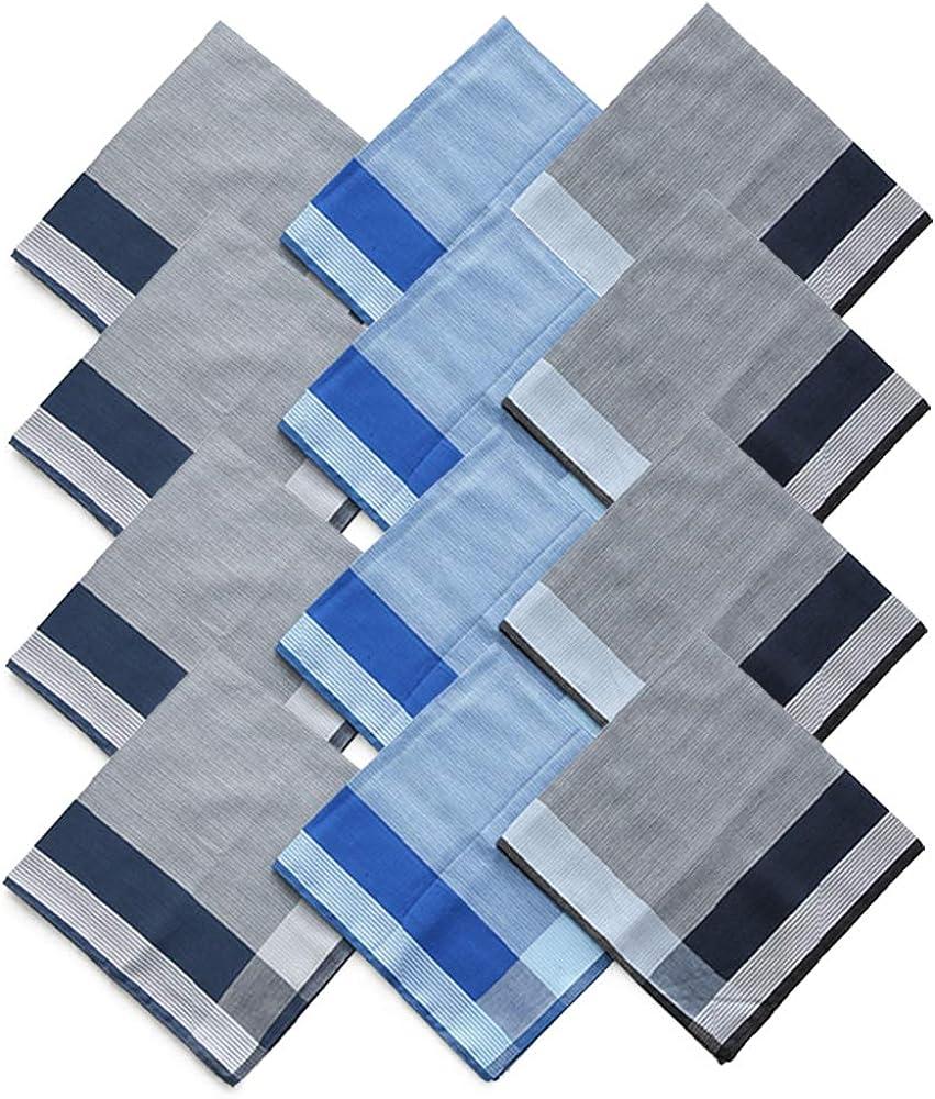 Muka Handkerchiefs 12 Pieces 100% Combed Cotton Extra Soft 17x17 Inch Wholesale Handkerchiefs