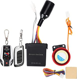 Aramox Motorcycle Remote Alarm System, 2 Way Remote Alarm Horn Waterproof Security System with Engine Start Function