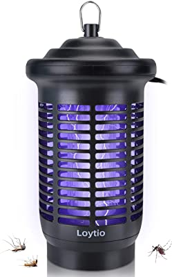 Bug Zapper & Attractant - 25W Effective 4500V Electric Mosquito Zappers/Killer - Insect Fly Trap, Waterproof Outdoor/Indoor - Electronic Light Bulb Lamp for Backyard, Patio