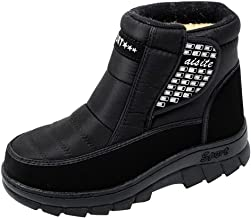 God's pens Men's Snow Boots Man Winter Platform Plus Velvet Warm Mid Boots Outdoor Waterproof Non Slip Protective Shoes