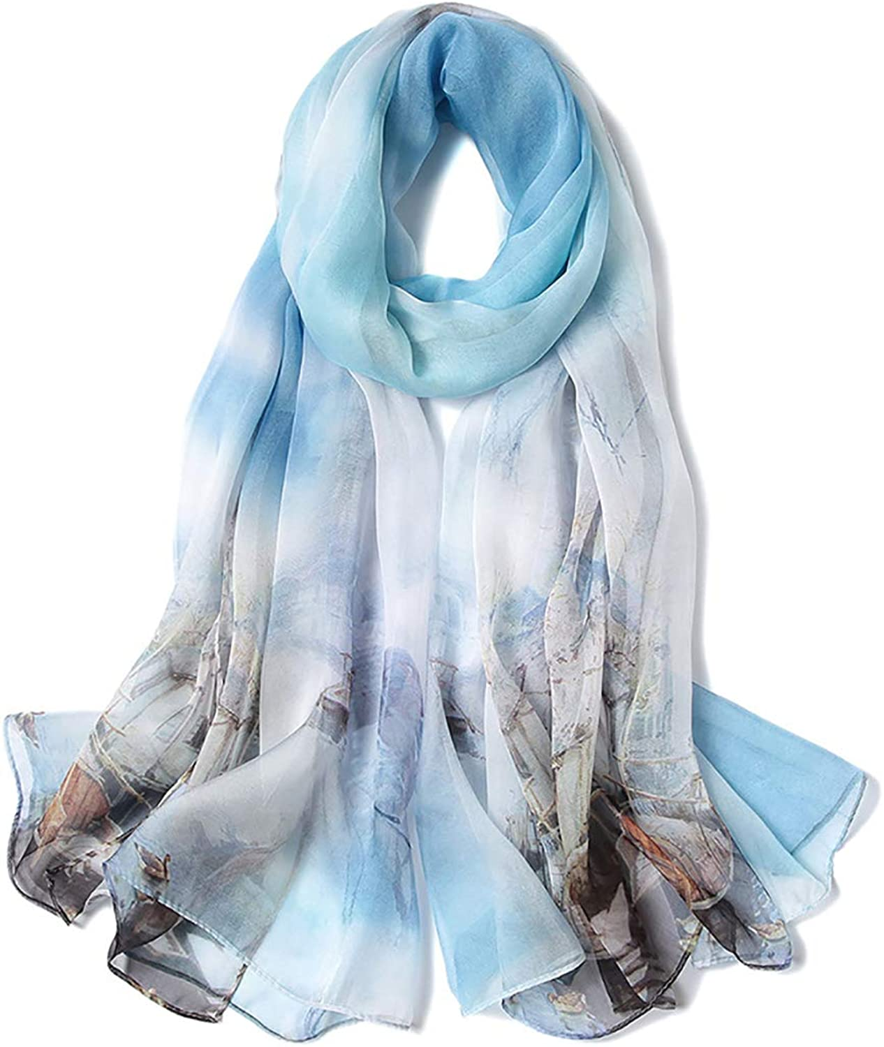 Female New Silk Scarf,Summer Sunscreen Natural Silk Shawl, Autumn and Winter Large Size Wild Long Scarves DualUse Beach Towel,170  110 cm