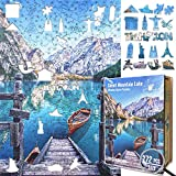 Wooden Jigsaw Puzzles for Adults and Kids - Braies Lake 272 Piece Wooden Puzzles for Adults and Kids Educational Games, Every Piece is Unique and Pieces Fit Together Perfectly (Medium, A4, 272pcs)