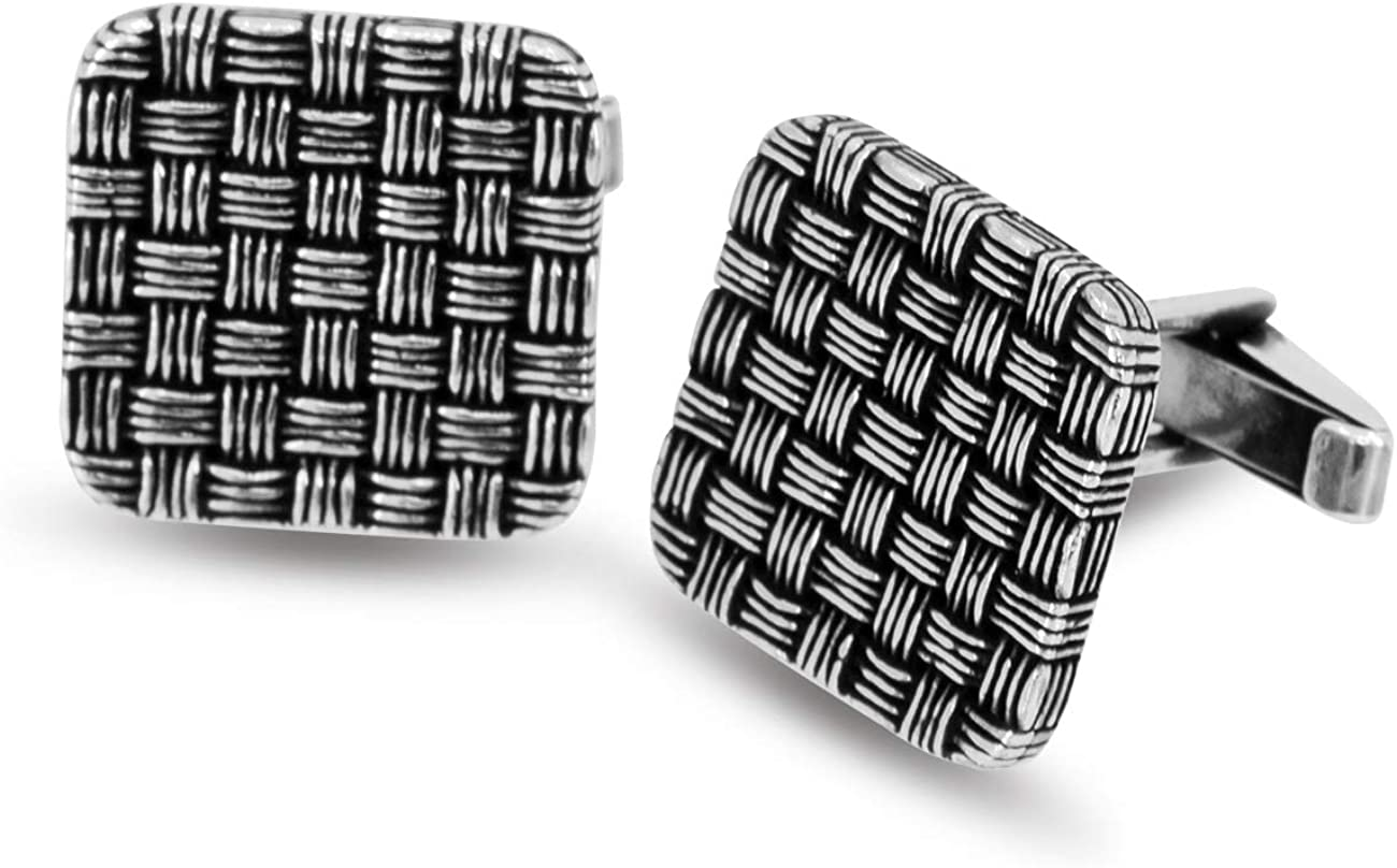 Chicotta Max 83% OFF Exclusive Knit Design Pure Sterling Large Cuffli Animer and price revision Silver