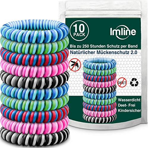 Mückenschutz Armband 10 Stück mit verbesserter Wirkung, Anti Mückenarmband Camping Zubehör für Kinder und Erwachsene