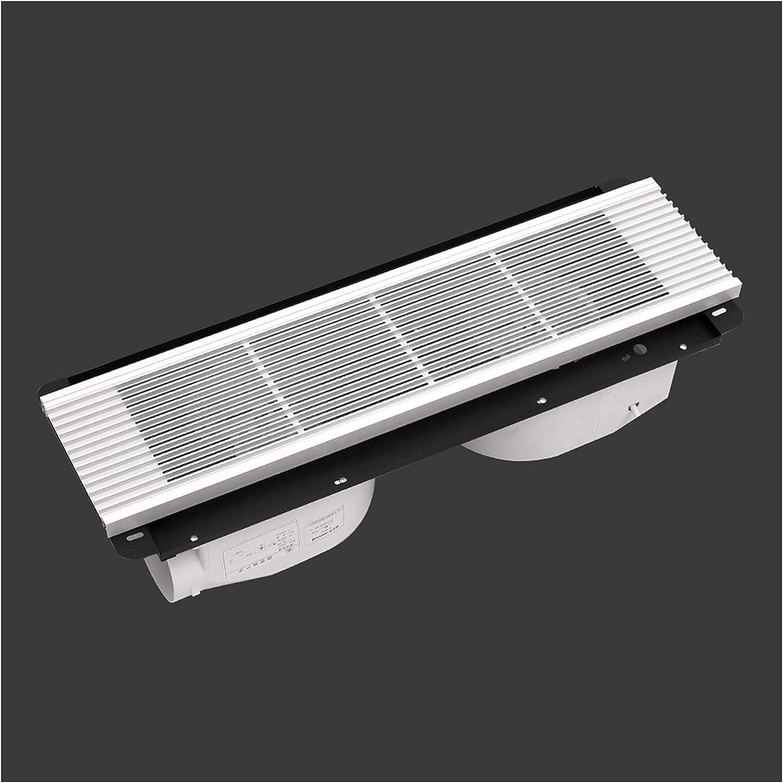 Ventilador extractor Ventilador oculto rectangular Ventilador de techo Parrilla Doble motor Ventilador de escape de doble núcleo potente ventilador ventilador, blanco / negro, 40W × 2 Ventilador de es