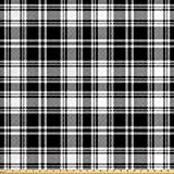 Lunarable Plaid Stoff von The Yard, Monochrom-Stil,