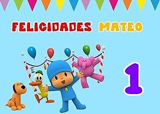 OBLEA de POCOYÓ Personalizada con Nombre y Edad para Pastel o Tarta, Especial para cumpleaños, Medida Rectangular de 28x20cm