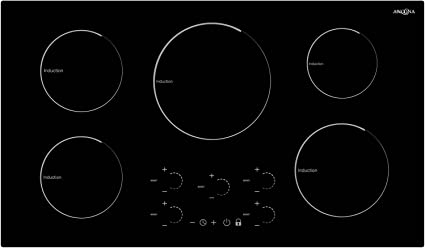 """Ancona AN-2413 Radiant Induction 36"""" Cooktop, Black"""
