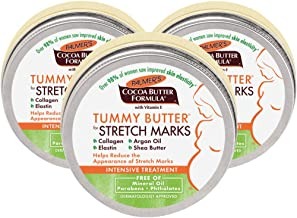 Palmer's Cocoa Butter Formula Tummy Butter Balm for Stretch Marks and Pregnancy Skin Care, 4.4 Ounces (Pack of 3)