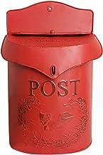 ZHYLing Vintage Metalen Afsluitbare Beveiliging Post Brief Krant Brievenbus Tuin Ornament (Kleur: Rood)