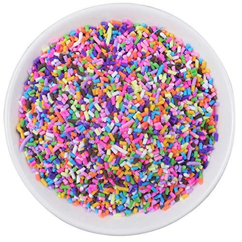 AMOYER Colorful Sprinkles Falso Candy Caramelle di Zucchero Chocolate Ice Spruzza Decorazioni per Un Dessert di Simulazione Slime Filler Aggiunta Accessori