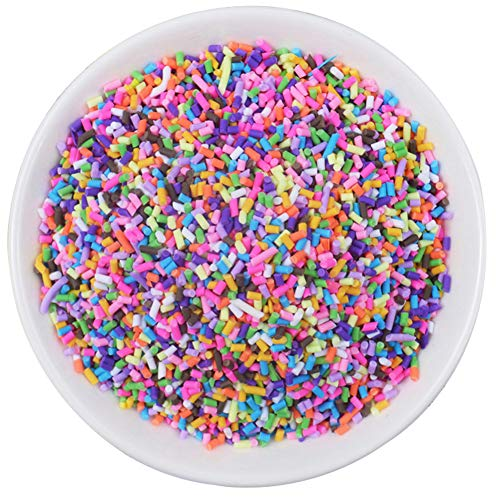 AMOYER 1pc Sprinkles for Slime Filler Addition Accessories Clay Fluffy Slime Supplies Beads Cake Dessert Mud Toys Kit for Slime Party for Girls Boys(chocolate Silk)