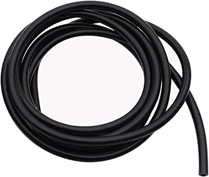 OD 0.28 7mm ID 0.12 Length 10 Feet // 3 Meter Black 3mm Color High Performance Silicone Vacuum Hose