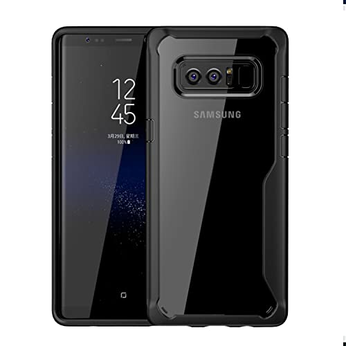 79e95d217f1 Taslar Bumper Case with Clear Back Hard Panel Protective Case Cover for  Samsung Galaxy Note 8