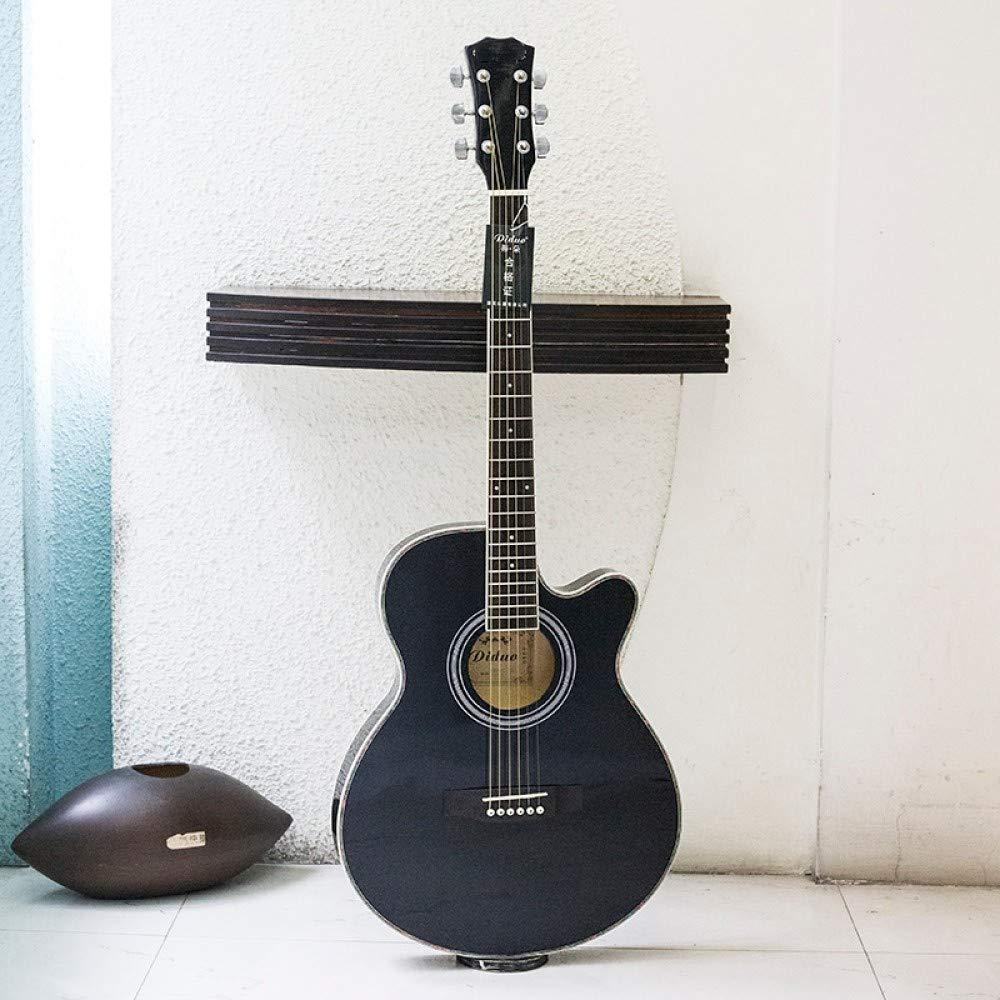 LOIKHGV Guitarras- Guitarras Negras Guitarra acústica de 40 Pulgadas Diapasón de Palisandro con Cuerdas de Guitarra Ultrafino 6.5cm con Estuche rígido, Negro, Ninguna Recogida, 40 Pulgadas: Amazon.es: Hogar