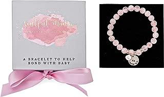 Mommy to Be Gift: Pregnancy Gift: Rose Quartz - Baby Bonding Bracelet - Ideal Pregnancy Gift, New Mom Gift, Babyshower Gift or Gift for Mom to Be