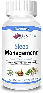 Bliss Welness Calm Bliss Sleep Management Ayurvedic Herbal Combo of Jatamansi & Valerian Root for Calm Mind and Relaxation - 60 Vegan Capsules
