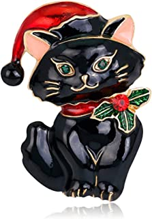 Christmas Brooch pin cat hat Cute Decorative Brooch Charm Jewelry Jewelry Gift