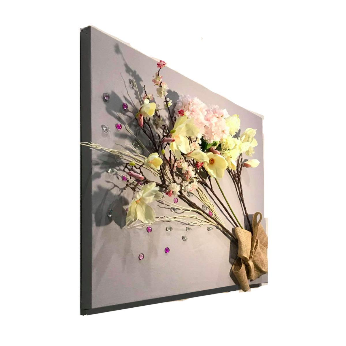 Large Wall Decor We OFFer at cheap prices 3D Picture Fabric Flowers Cotton on Don't miss the campaign Artificial
