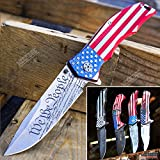 KCCEDGE BEST CUTLERY SOURCE USA American Flag 8 Inches Punisher Folding Pocket Knife Proud of America Knife (We The People)