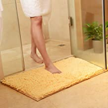 vctops Plush Chenille Bath Rugs Extra Soft and Absorbent Microfiber Shag Rug, Non-Slip Runner Carpet for Tub Bathroom Show...