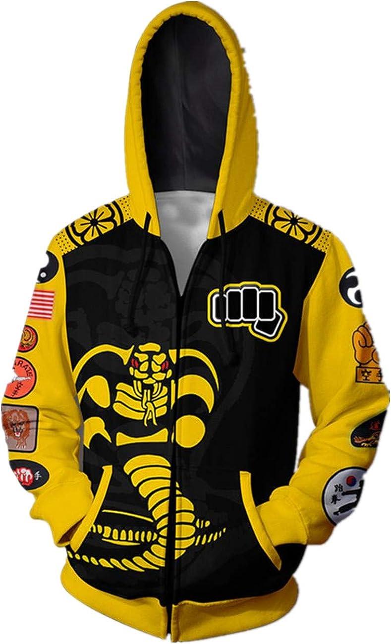 Dojo 3D Printed Hoodie Max 67% OFF Cosplay Costume Pullover Sweatshir Zipper Max 87% OFF