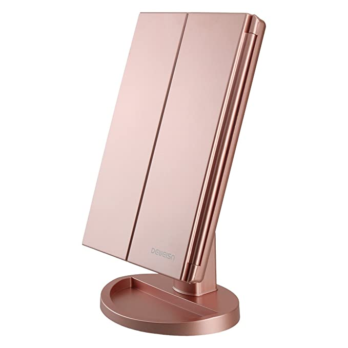 Tri-Fold Lighted Vanity Mirror with 21 LED Lights