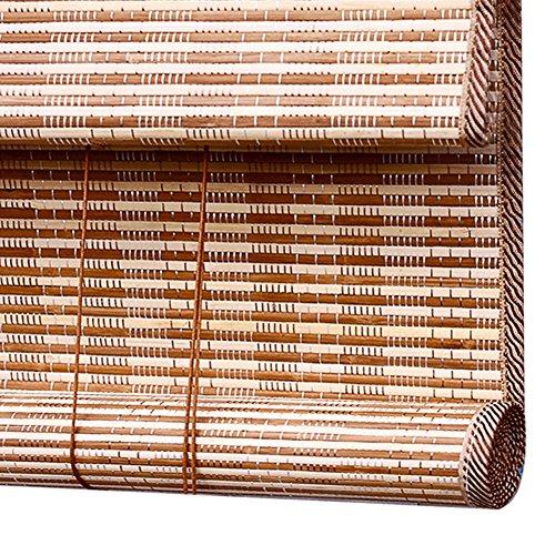 WENZHE Estores De Bambú Persiana Enrollable Rodeando Plegable Casa, Instalación Interna/Externa, 3...