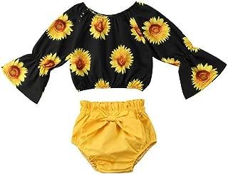 V-A-O-L Conjunto de 2 Pantalones Cortos de Manga Larga para niñas, Estilo Casual