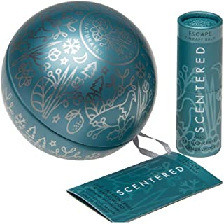 Scentered Escape Aromatherapy Balm Stick - Christmas Bauble Gift - Frankincense, Sandalwood & Cedarwood Blend - Actively Encourages Feelings of Freedom, Peace & Space