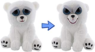 William Mark Feisty Polar Bear by Feisty Pets Expressions, Karl The Snarl, Grin - A Cute, Plush Stuffed Pet Animal That Grins with a Squeeze - Perfect Toys for Friendly Mischief