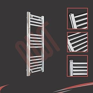 300 mm (w) x 800 mm (h) - Piso Radiador toallero cromado horizontal Diámetro: 22 mm, Bar Modelo: 4 + 5 + 6