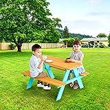 Teamson Kids TK-KF0002 Juego de Mesa y Silla de Picnic para jardín al Aire Libre, Petrol