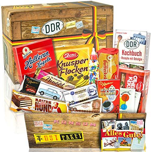 Ostprodukte Süssigkeiten Box - Geschenkset für Sie Geburtstag