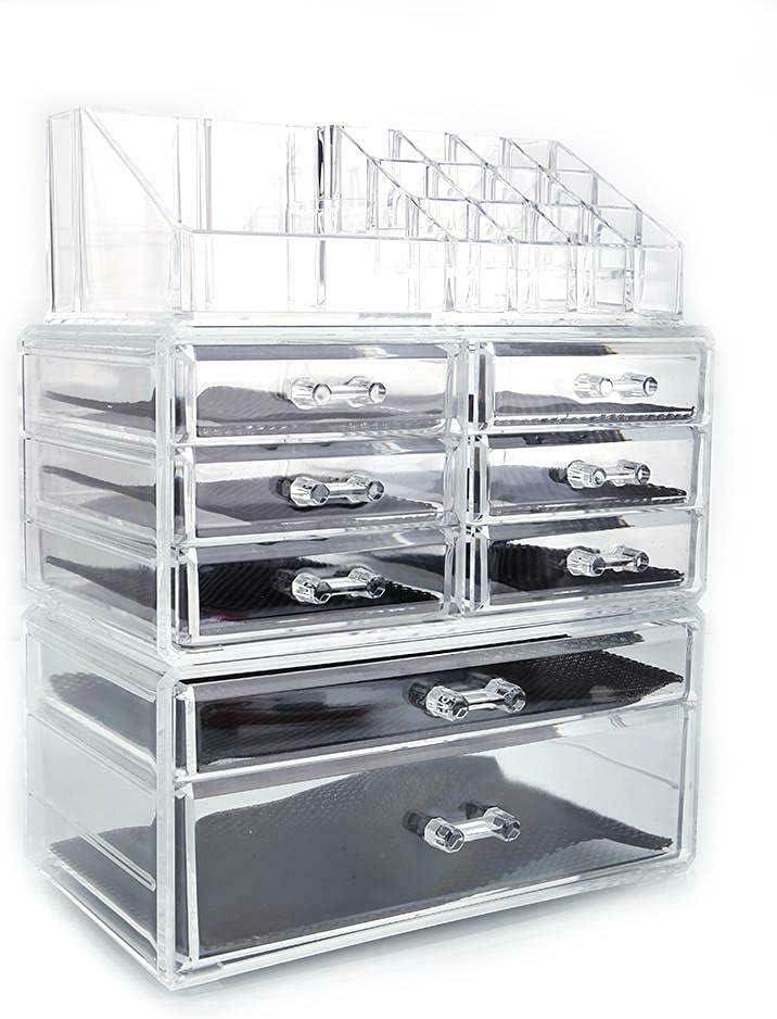 Acrylic price Cosmetic Max 46% OFF Storage Display Organizer H Makeup Case Jewelry