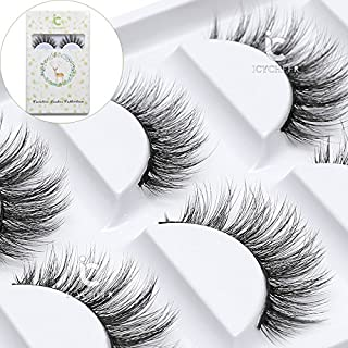 e62c74c5216 ICYCHEER Makeup Cosmetics 5 Pairs/Box Real Mink 3D False Eyelashes 100%  Siberian Mink