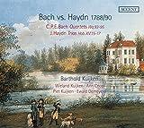 Haydn Vs. Bach [1788/90] / Barthold Kuijken, Traverso. Wieland Kuijken, Chelo. Ann Cnopn, Viola. Piet Kuijken, Fortepiano. Ewald Demeyere, Clave
