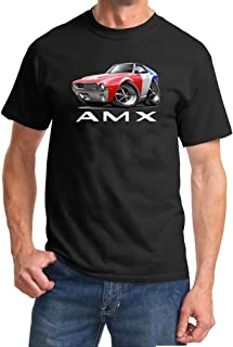 1968 1969 AMC AMX Red/White/Blue Full Color Design Tshirt