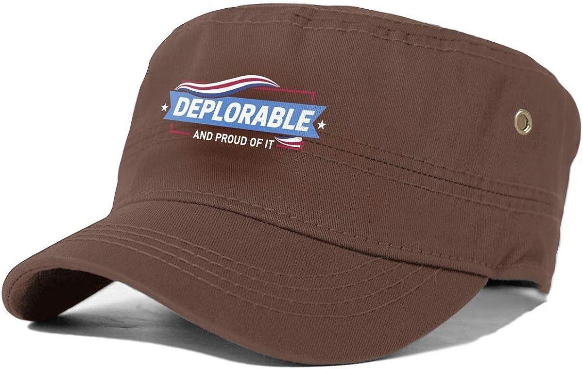 Deplorable and Proud Mens Classics Cap Women Fashion Hat Cowboy